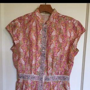 Cap sleeve blouse, silk